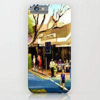 iPhone & iPod Case featuring Sidewalk Cafe by Helen Syron