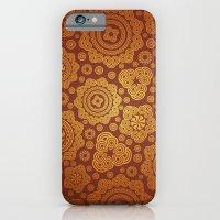 Warm Gold Paisley Pattern iPhone 6 Slim Case