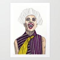 Fashion Illustration - Patterns and Prints - Part 1 Art Print