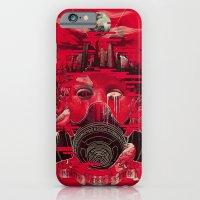 iPhone Cases featuring Industry Vs. Ecology by dan elijah g. fajardo