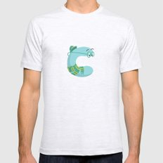letter C Mens Fitted Tee SMALL Ash Grey