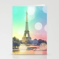 paris Stationery Cards featuring Paris. by WhimsyRomance&Fun