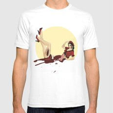Pinned-Up Entrails  White Mens Fitted Tee SMALL
