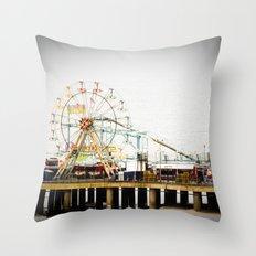 Steel Pier Throw Pillow