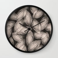 Fallen Fairy Wings - Sil… Wall Clock