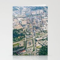 Aerial City Landscape Stationery Cards