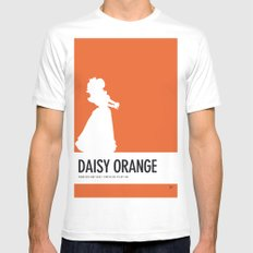 No35 My Minimal Color Code poster Princess Daisy Mens Fitted Tee White SMALL