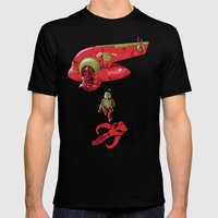 BobAkira (red) Mens Fitted Tee Black SMALL