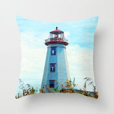North Cape Lighthouse Throw Pillow