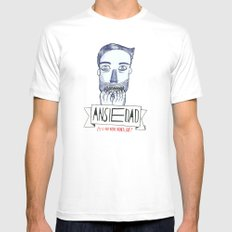 Ansiedad (Anxiety) SMALL Mens Fitted Tee White