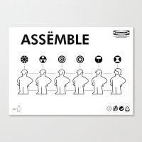 The Avengers X IKEA Mash… Canvas Print