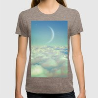Dream Above The Clouds (Crescent Moon) Womens Fitted Tee Tri-Coffee SMALL