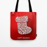 Happy Holidays - Boot Tote Bag