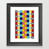Squares Pattern Framed Art Print