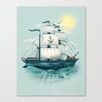 The Whaleship Canvas Print