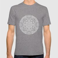 Doodle circle 1 Mens Fitted Tee Tri-Grey SMALL