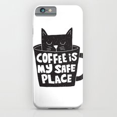coffee is my safe place iPhone 6 Slim Case