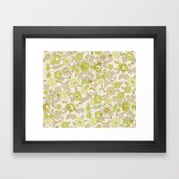 small vintage floral Framed Art Print