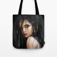 Pale Feathers Tote Bag