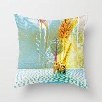 Salatarian EYELAND Lagoo… Throw Pillow