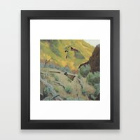 The Unknown Rider in The Deputy From Hell Framed Art Print
