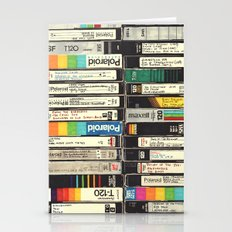 VHS Stack Stationery Cards