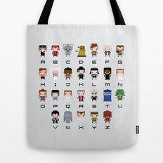 Doctor Who Alphabet Tote Bag