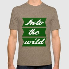 Into the wild Mens Fitted Tee Tri-Coffee SMALL