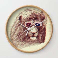3D Lion Wall Clock