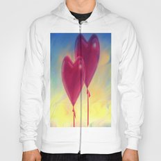 Love heart Balloons Hoody