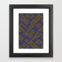Blue Tribe Framed Art Print