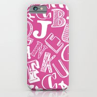 iPhone & iPod Case featuring A-Z by All My Friends Are Feline