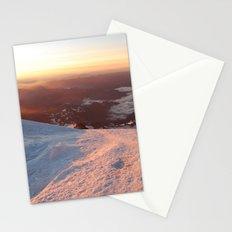 Sunrise above the earth - 14,411 feet Mt. Rainier Stationery Cards