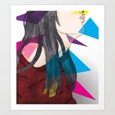 nube mente corazon Art Print