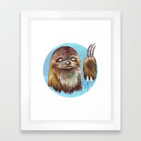 Sloth Pride Framed Art Print