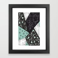 DARKSTAR GEOMETRIC Framed Art Print