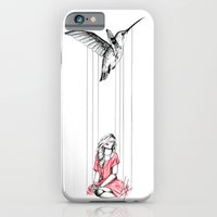iPhone & iPod Case featuring Hummingbird by Libby Watkins Illustration