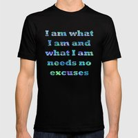 I Am What I Am Mens Fitted Tee Black SMALL