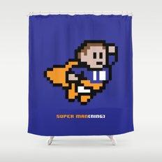 8-Bit: Super Man(ning) Shower Curtain