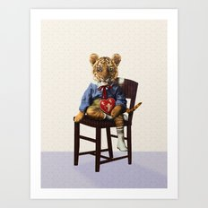 Tiny Tiger Valentine Art Print