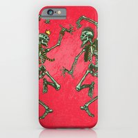 iPhone Cases featuring Dance Till You're Dead by ChrisNygaard