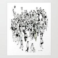 Shibuya Street Crossing Crowd Art Print