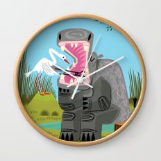 Hippopotamouth Wall Clock