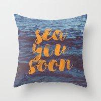 Sea You Soon Throw Pillow