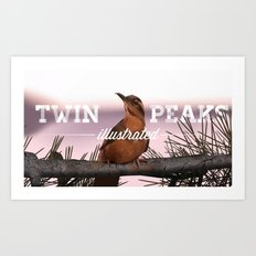 Opening bird with title Art Print