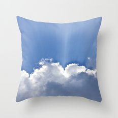 Clouds over Seaside Throw Pillow