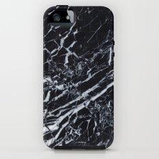 Real Marble Black iPhone SE Tough Case