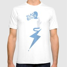 Elan Rules White Mens Fitted Tee SMALL