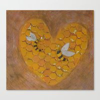 Hunie Bee Canvas Print