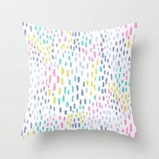 Rain in colors Throw Pillow